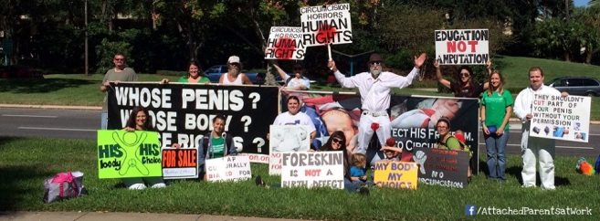 October 2013 protest of the AAP conference (Orlando, FL)