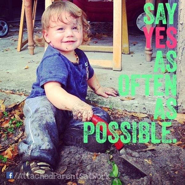 Say yes as often as possible
