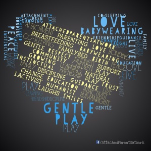 Attachment parenting word collage